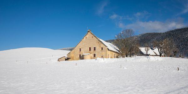 La ferme de la Balme en hiver, Méaudre