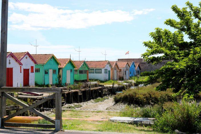 Les cabanes colorées du Château-d'Oléron