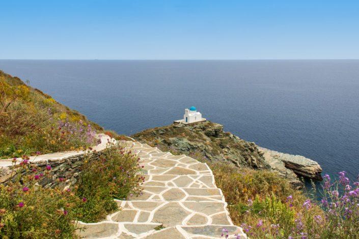 La chapelle des Sept Martyrs sur l'île de Sifnos, dans les Cyclades