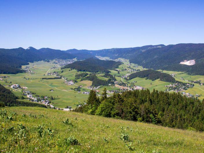 La commune d'Autrans-Méaudre en Vercors depuis le haut du téléski du Cray