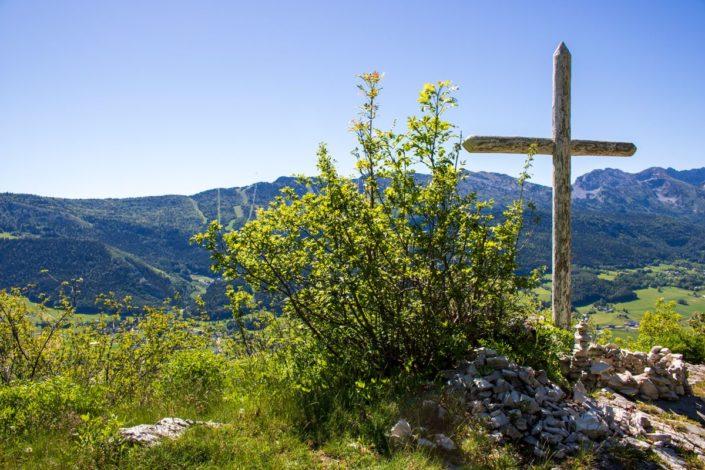 La croix de Jaume dans le massif du Vercors, France