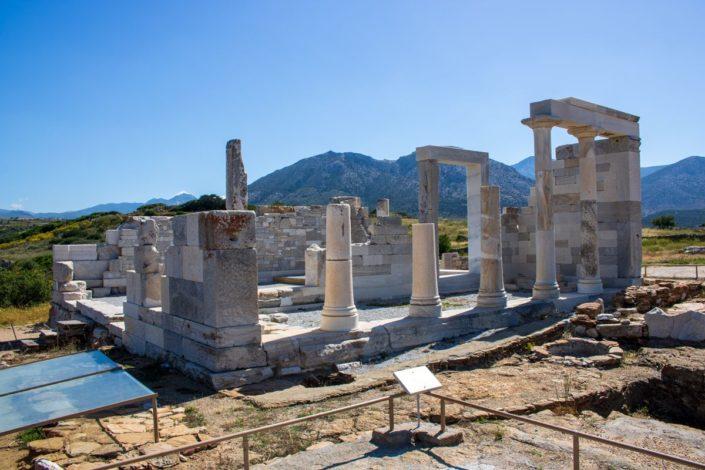 Le temple de Demeter sur l'île de Naxos