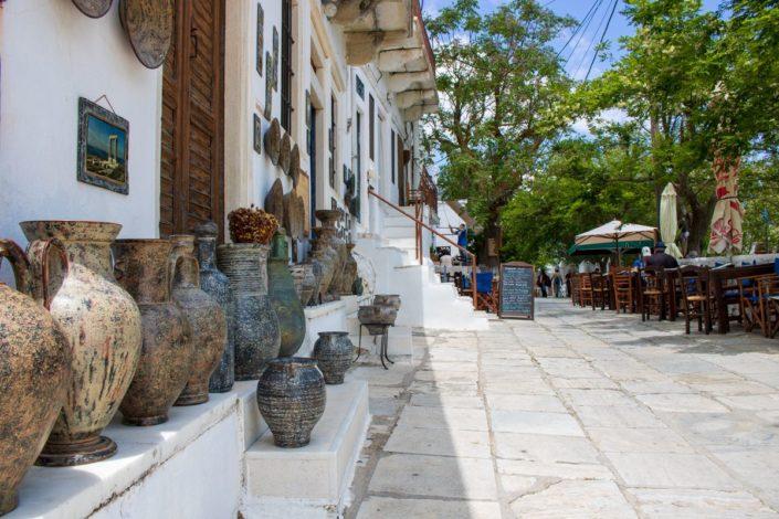 Le village d'Apeiranthos sur l'île de Naxos, dans les Cyclades