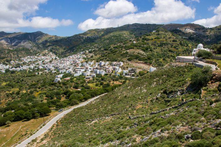 Le village de Filoti sur l'île de Naxos, Cyclades